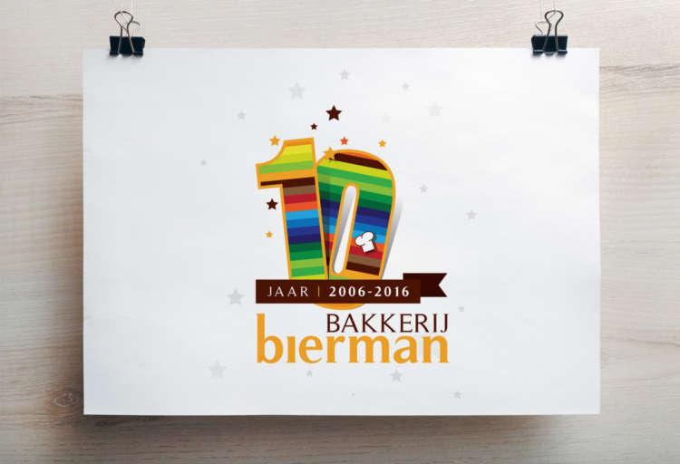 Bakkerij Bierman Jubileum Logo