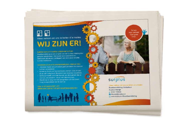 Surplus Advertentie Thema Buurtbemiddeling