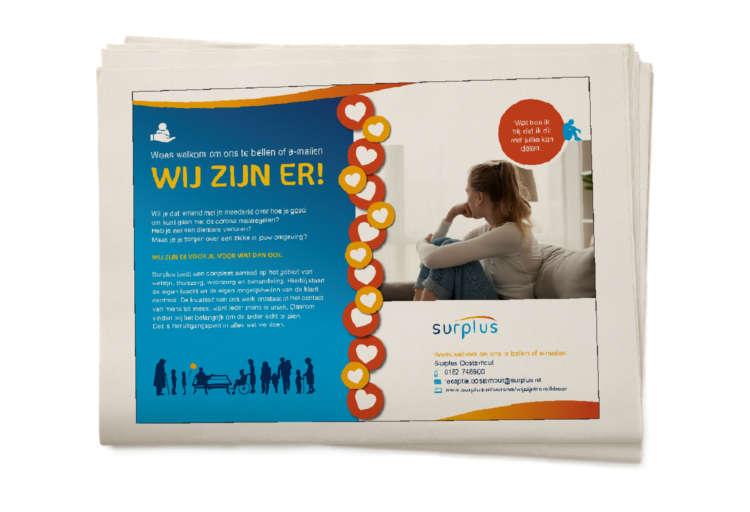Surplus Advertentie Thema Eenzaamheid